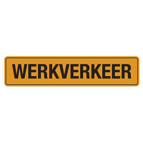 Reflecterende werkverkeer sticker