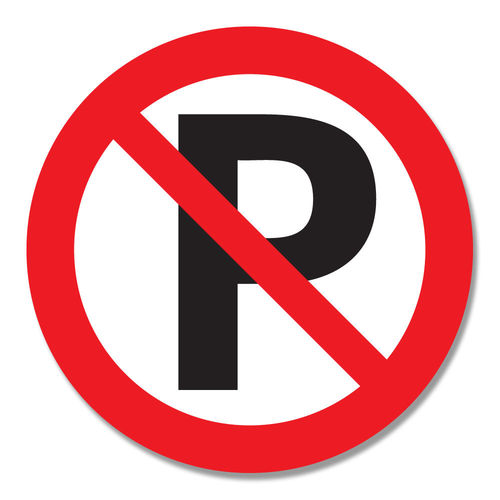 Parkeerverbod - ronde sticker